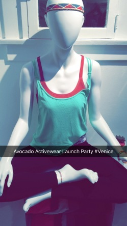 avocado activewear launch party, venice beach, chantal boyajian