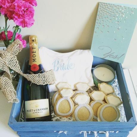 chantal boyajian sweet lucys kitchen bride package moet diamond ring cookies